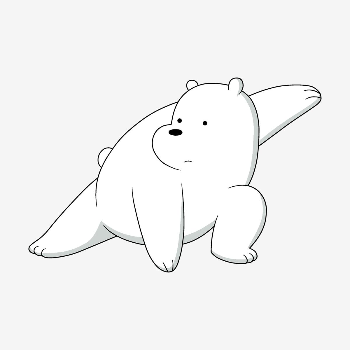 Белый медведь — один из главных героев мультсериала We Bare Bears