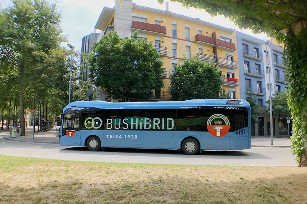 Гибридный городской автобус — почти бесшумный