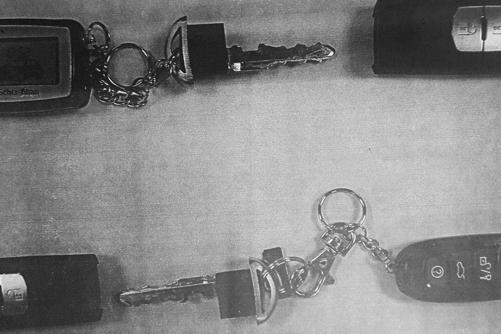 В таком виде надо было представить страховой компании фотографии ключей от машины