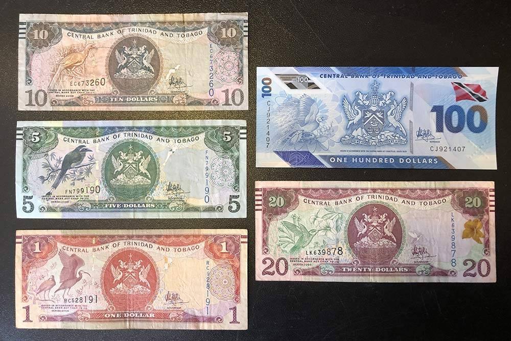 Доллары Тринидада и Тобаго. Это купюры длямоей коллекции
