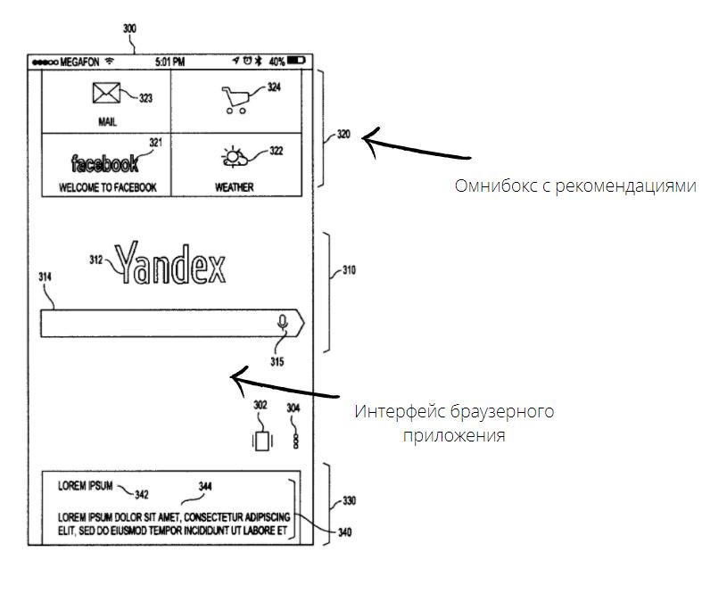 Неизвестно, появится такой модуль в «Яндекс-браузере» или нет — пока это только проект. Но «Яндекс» уже доказал, что этот вариант интерфейса уменьшит количество жестов, необходимых длянавигации вприложении — такой заявлен технический результат. Источник: Описание изобретения к патенту RU2632144C1