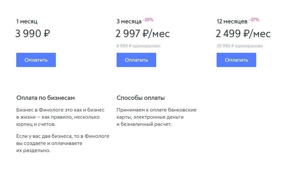 Дополнительные услуги стоят от 3000<span class=ruble>Р</span> до 44 990<span class=ruble>Р</span>. За 3000<span class=ruble>Р</span> можно получить консультацию о сервисе и задать вопросы по управленческому учету, за 14 990&nbsp;можно получать регулярную консультационную поддержку, а за 44 990<span class=ruble>Р</span> сервис предоставляет удаленного финдиректора