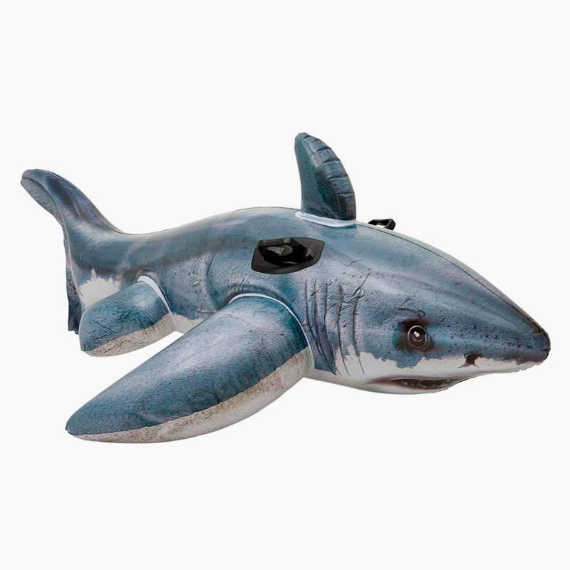 На такой надувной акуле очень тяжело держать баланс даже взрослому. На волнах ребенок быстро с нее упадет. Источник: toys-land.ru