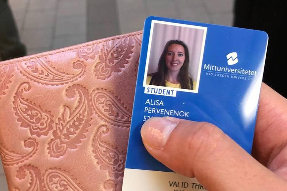 Моя кампусная карта. В Швеции это и пропуск в здание университета, и карточка в библиотеку, и проездной в транспорт