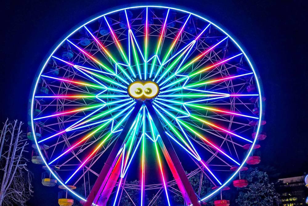 В Luneur есть забавное колесо обозрения. Источник: luneurpark.it