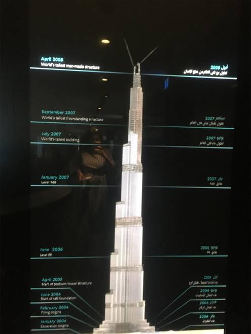 Панно с историей строительства башни