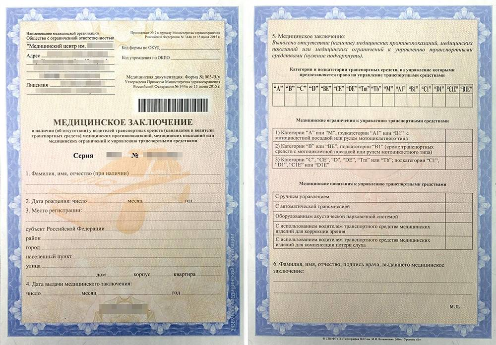 Форма № 003-В/у — утверждена приказом Минздрава России от 15.06.2015 №344н