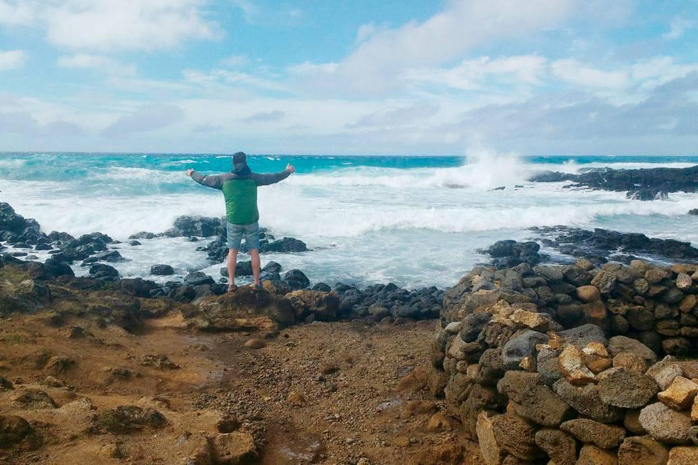Раз яприплыл накорабле, можно воззвать кдуху моря возле Аху Те-Пито-Те-Кура