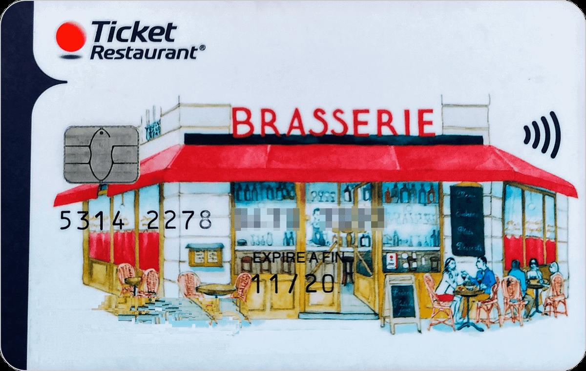Старая версия карты ticket restaurant. С ней на кассе надо было предупреждать, что платите именно ей, а не обычной карточкой
