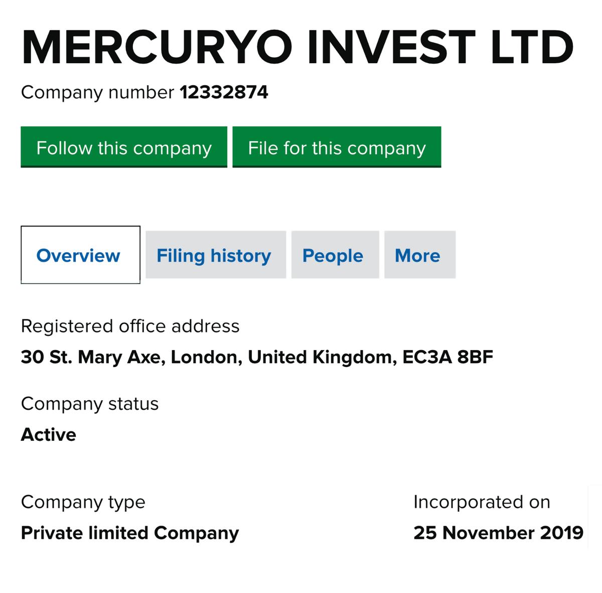 Приэтом компания зарегистрирована 25 ноября 2019года, а не 20 лет назад