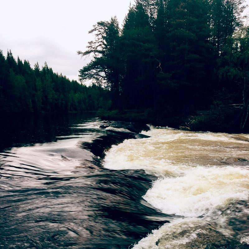 Река Колвица, на которой находится водопад Черный Падун, впадает в Белое море