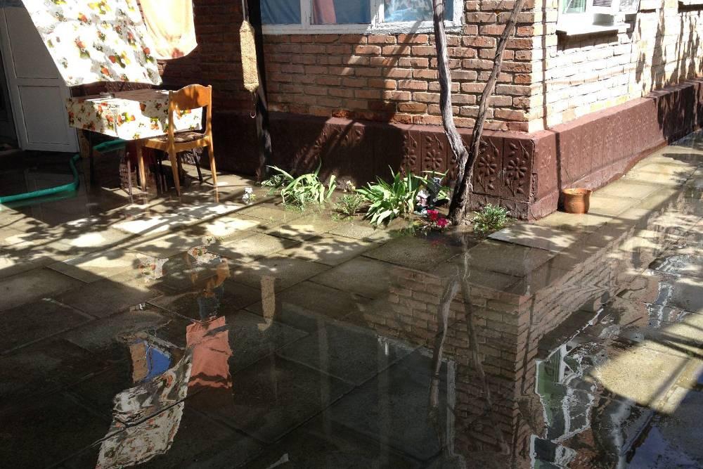 Так выглядел наш двор после дождя