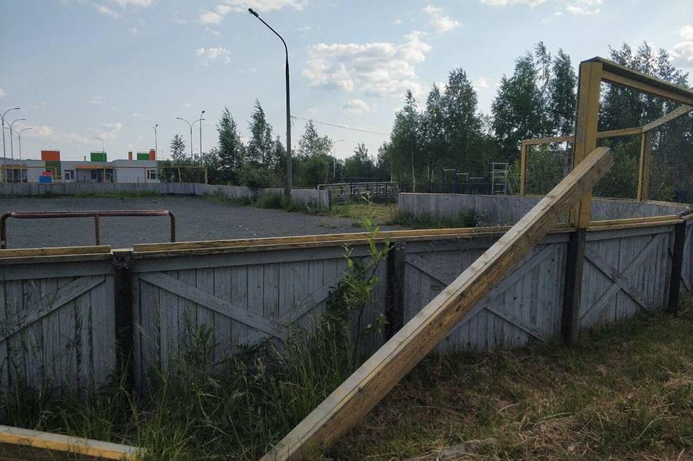 Это детская площадка. Фото сделано в Костомукше, самом молодом городе Карелии