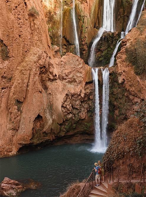 У водопада три яруса
