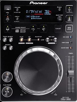 Pioneer CDJ−350, 42 000<span class=ruble>Р</span>. Проигрывает компакт-диски и MP3