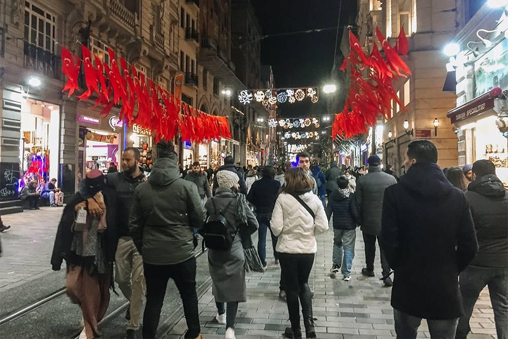 Истикляль — главный вечерний променад Стамбула
