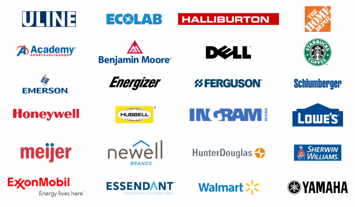 Логотипы клиентов компании. Источник: презентация компании, слайд 6