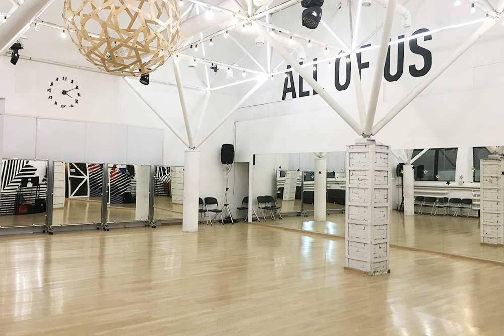 Зал для сампо в моей танцевальной школе, понедельник, 16:10. Пока здесь свободно, но уже через пару часов народу будет битком