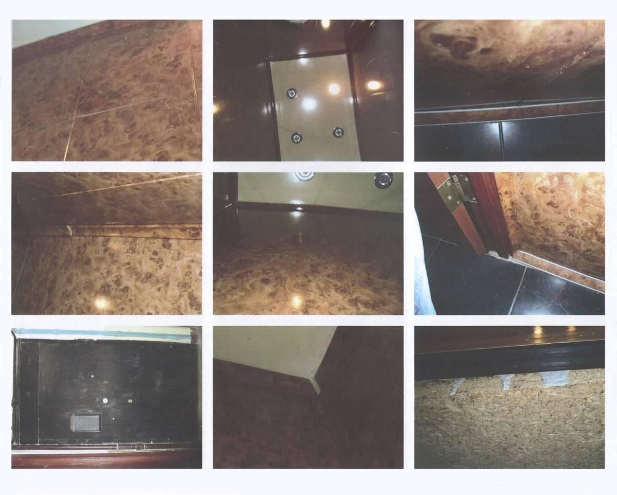 Фотографии «залитого цементом» туалета соседки. Фактически на них видно только то, что перегорела лампочка