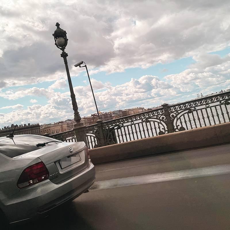 Вид из такси по пути домой