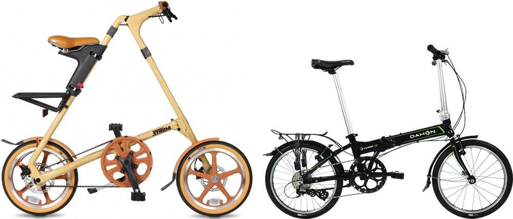 Складные велосипеды «Стрида» и «Дахон». Источники: strida.ru и dahonbike.ru