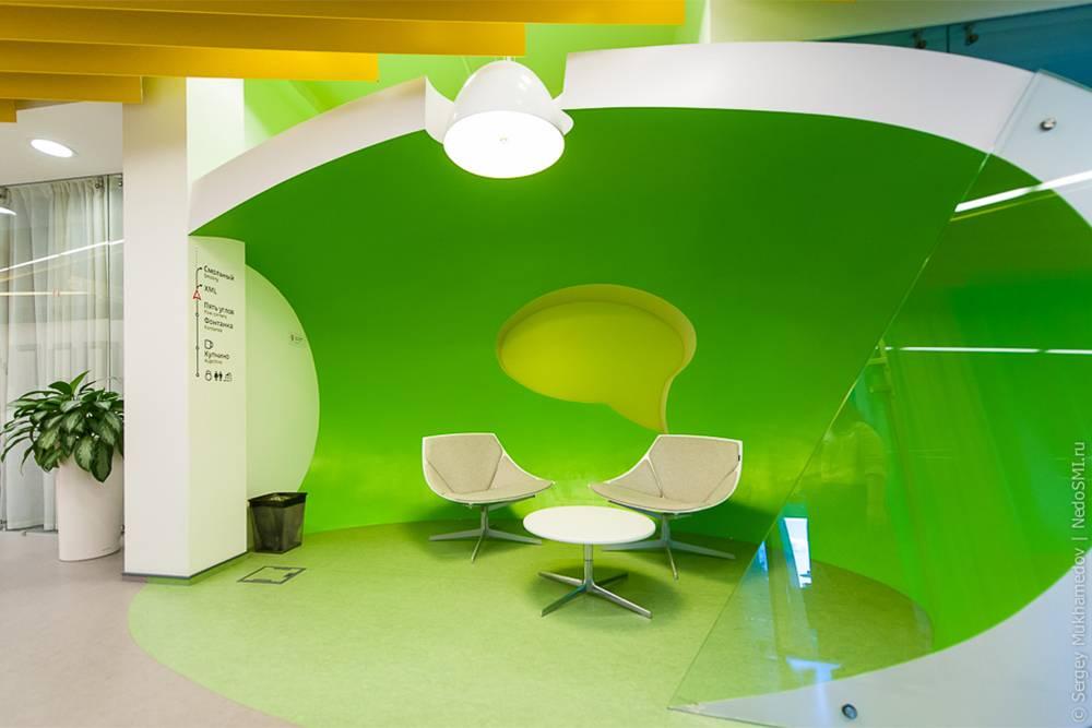 Дизайн в офисе «Яндекса». Источник: «Как это сделано»