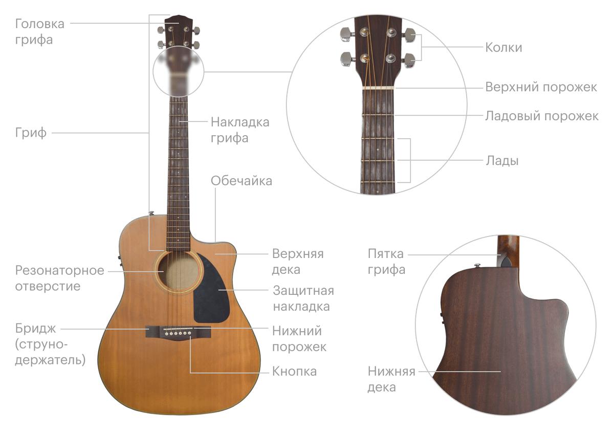 Конструкция гитары