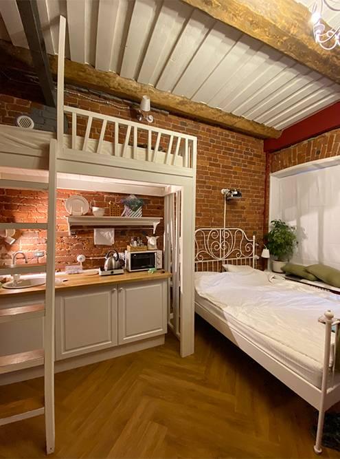 В этих апартаментах в Питере Дусе особенно нравился второй этаж