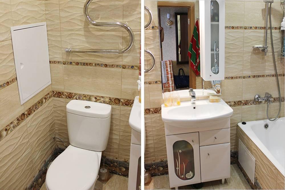 В ванной не было ничего особенного: уральская плитка и недорогое оборудование из «ЛеруаМерлена»