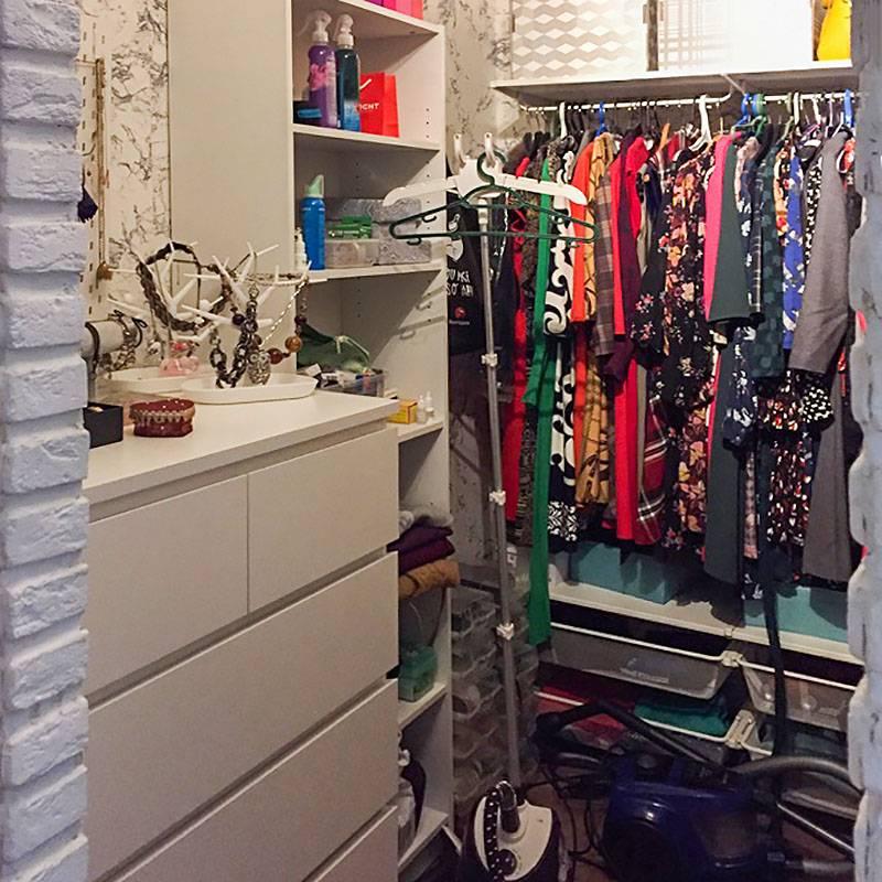 Моя гардеробная с платьями