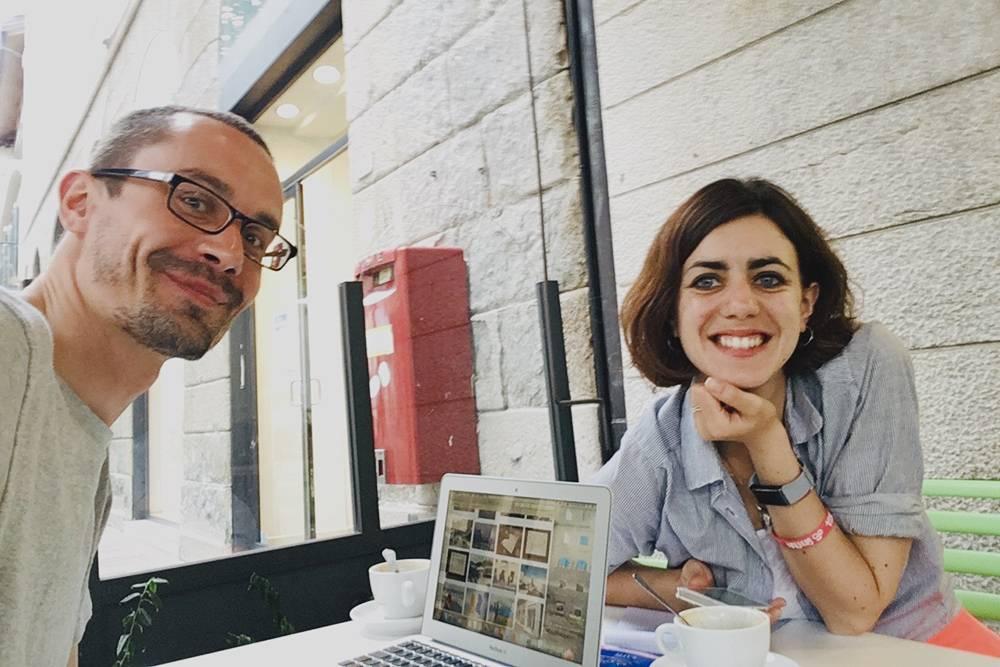 Работаем в уличном кафе в Фельтре