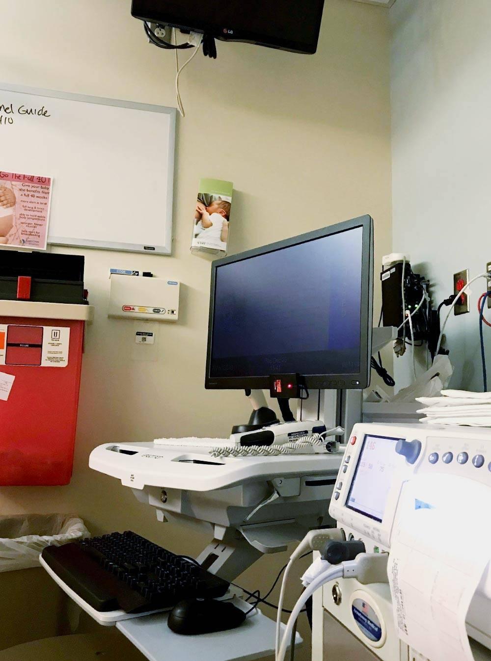 Комната дляпроведения КТГ в госпитале Sharp Mary Birch
