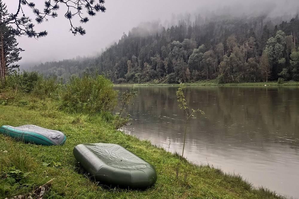 Я сделала это фото на рассвете в августе 2020года. Туман поднялся от реки и завис на верхушках деревьев