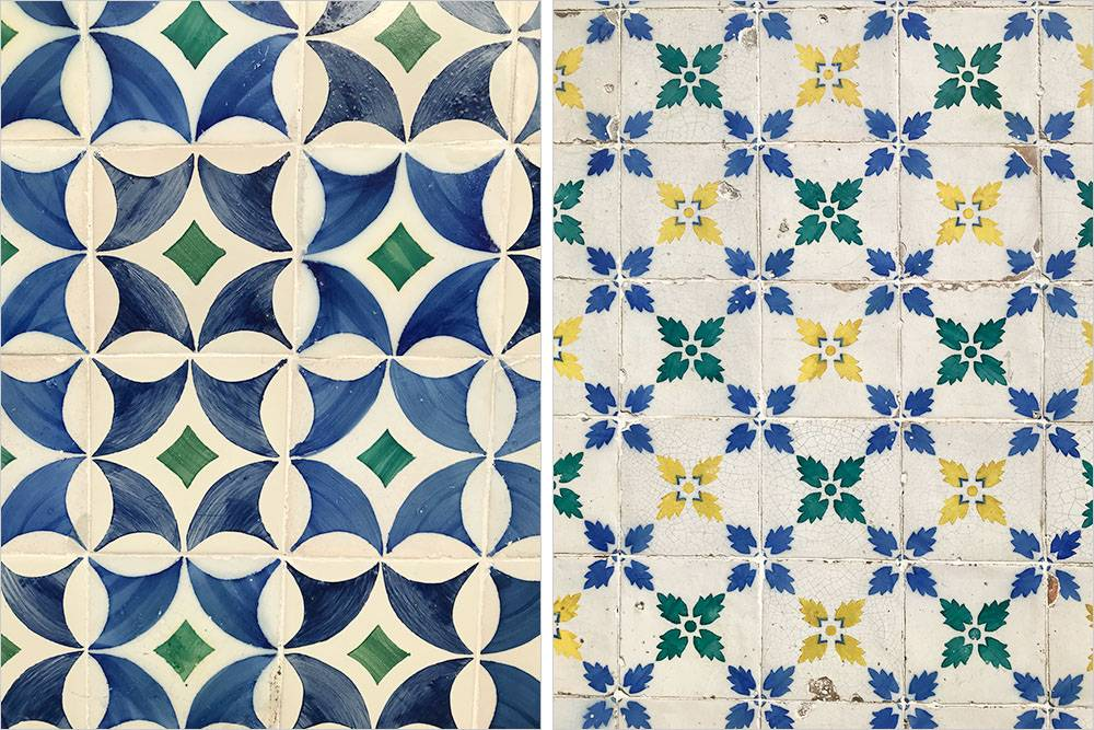 Стены домов в Лиссабоне выложены разноцветной плиткой — азулежу