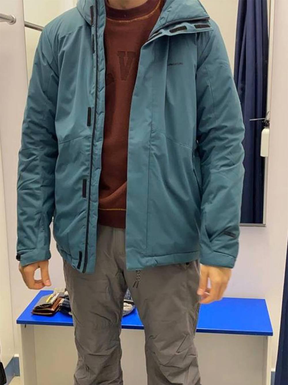 Муж к поездке одет