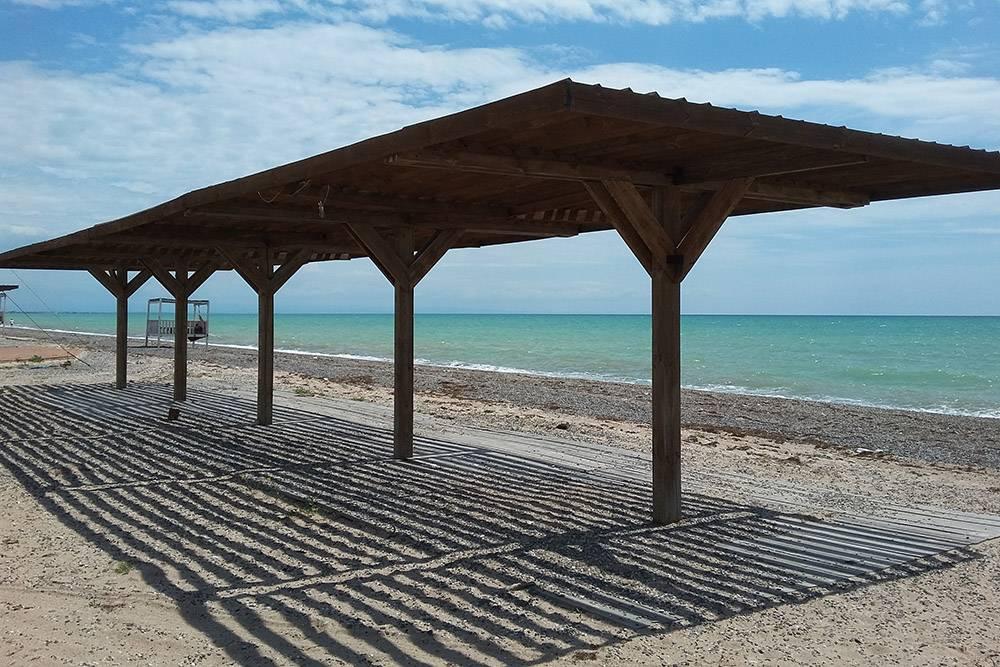 Это фото на Новом пляже сделано в мае. В июле и августе на берегу и в море всегда люди