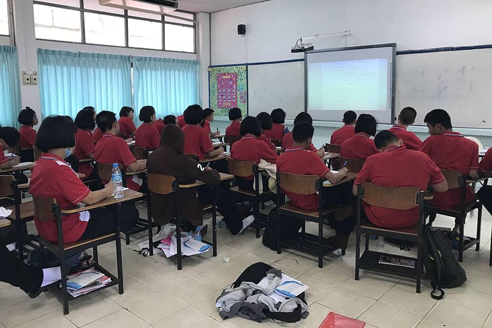 Мой класс в местной школе, где я преподавал английский