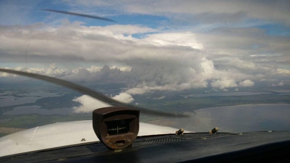 Первый самостоятельный полет с женой над Флоридой