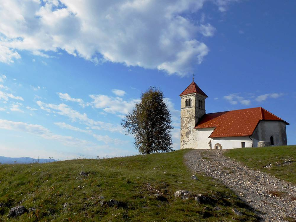Церковь святой Анны на холме в Люблянском барье, недалеко от нашего дома