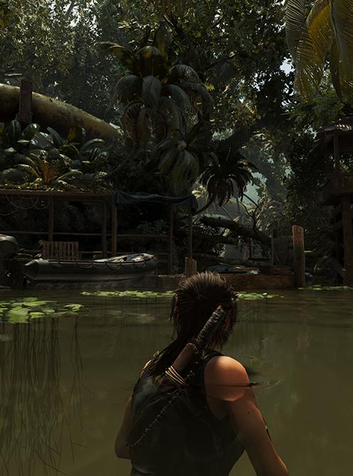 Объемное освещение отключено. Игра — Rise of theTomb Raider. Источник: nvidia.com