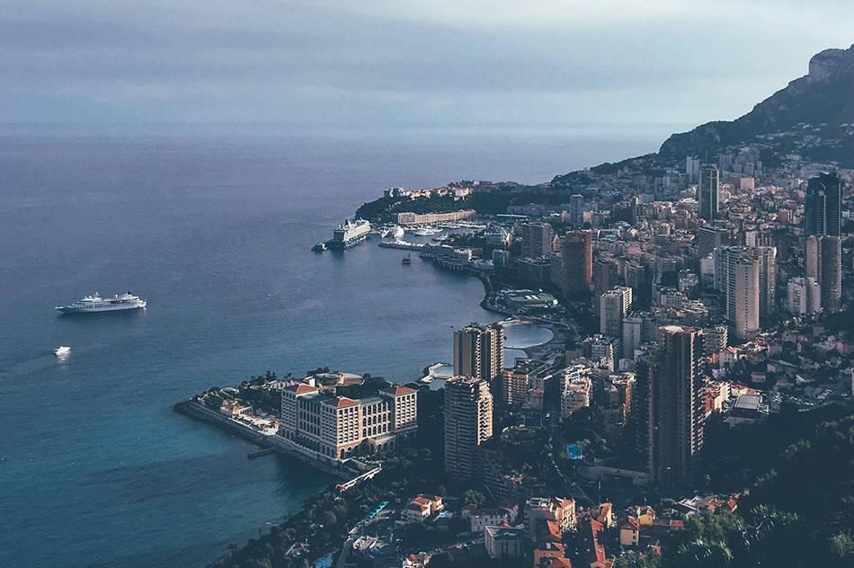 Вид на Монако с высоты