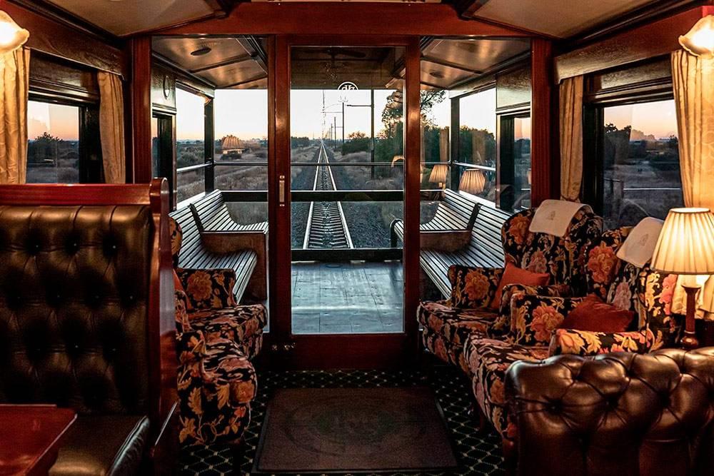 Так выглядит обзорный вагон в поезде «Ровос». Источник: Rovos