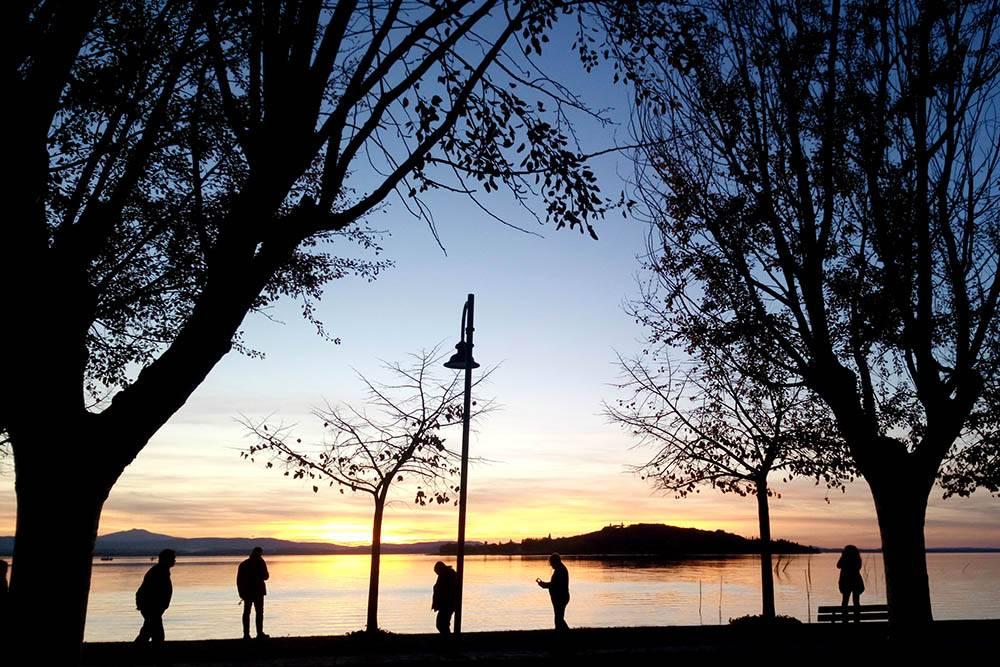 За 20 минут из Перуджи можно доехать до озера Тразимено