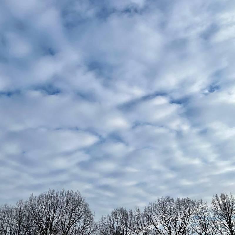 Морозное небо! Это моя утренняя прогулка недалеко от дома брата