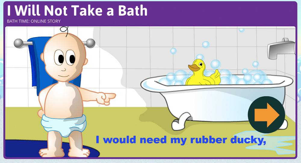 Все игры здесь на английском языке: в этом задании ребенок должен понять, что нужно перетащить резиновую утку