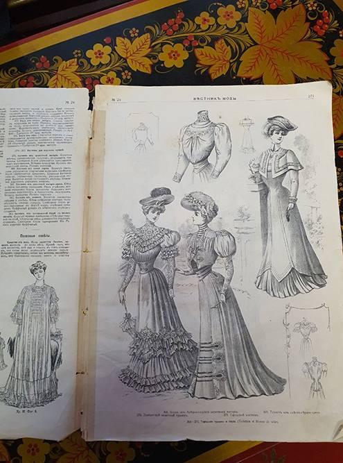 В книге «Вестник моды» есть не только модели платьев, но и советы, как спастись от мух