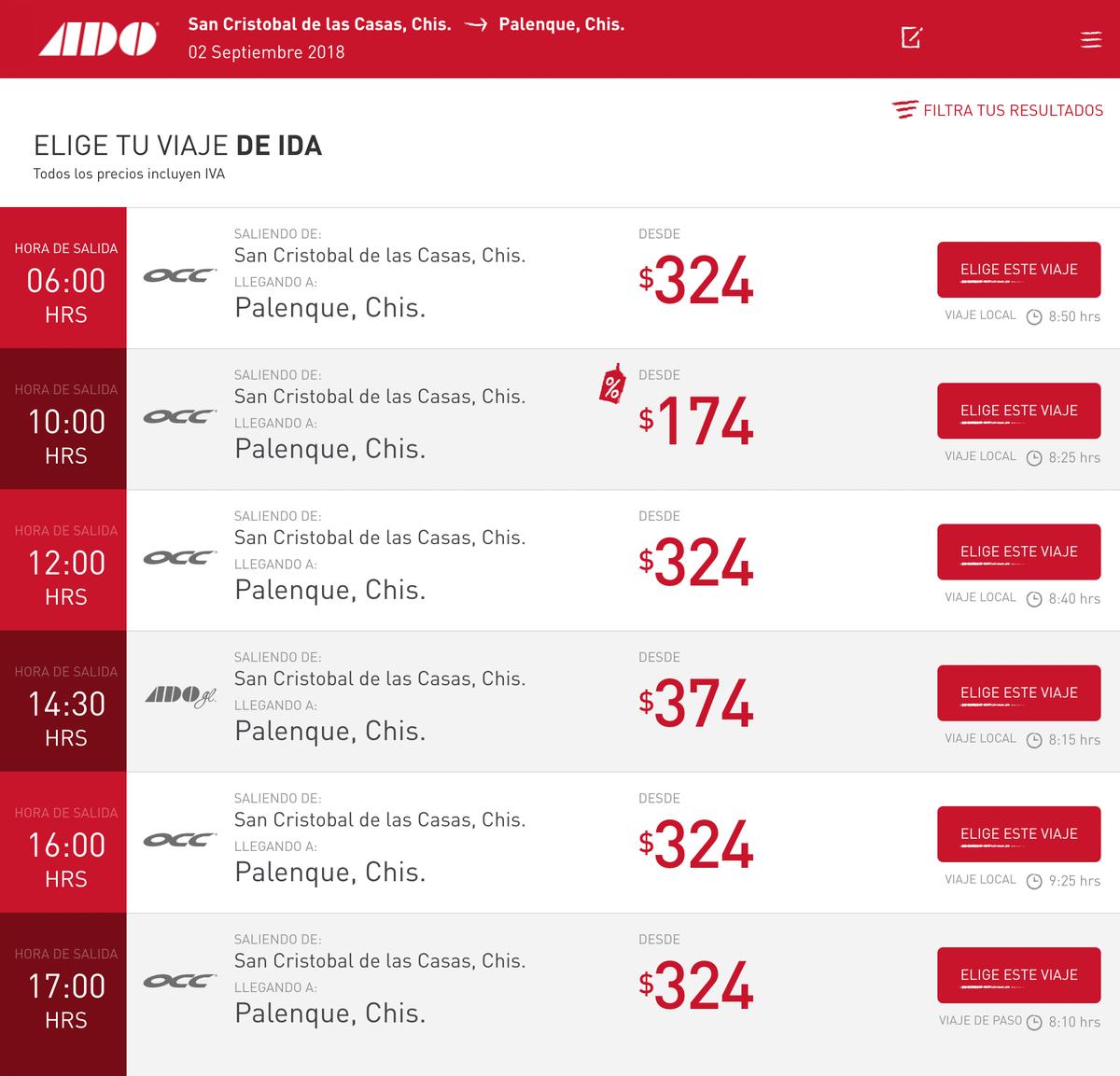 Цены на билеты до Паленке меняются, но всегда можно найти вариант со скидкой