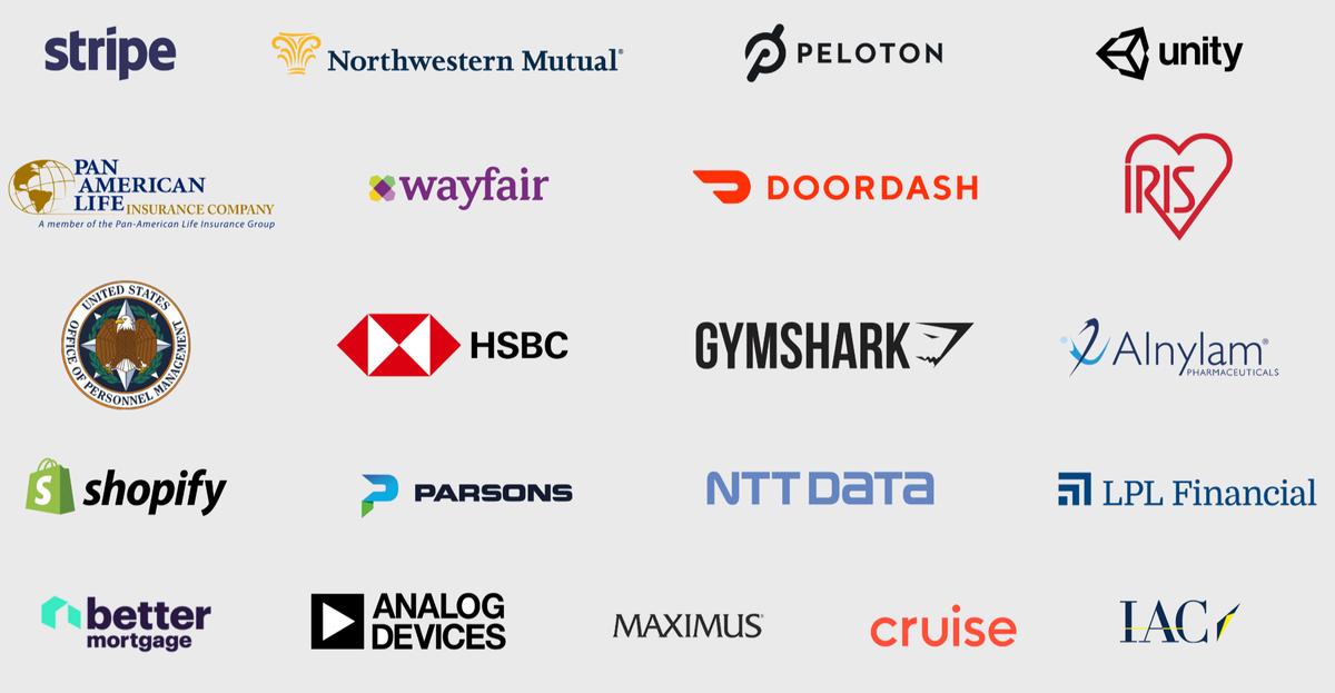 Логотипы некоторых клиентов Slack. Источник:презентация компании, слайд15