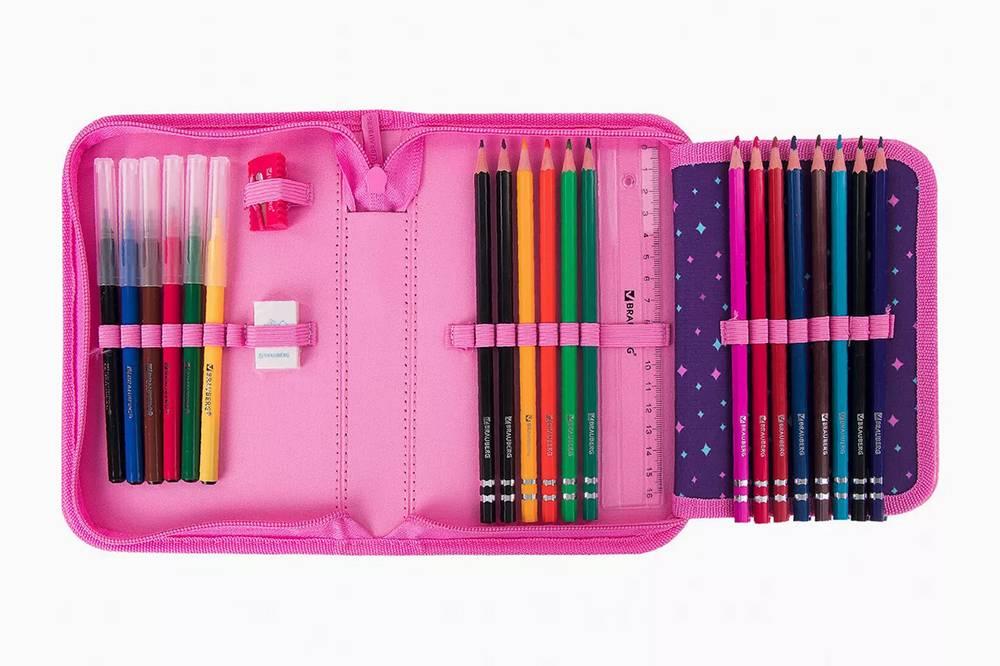 В таком пенале все нужное всегда на виду: легко проконтролировать количество ручек и карандашей и быстро заметить, чего не хватает. Источник: ozon.ru