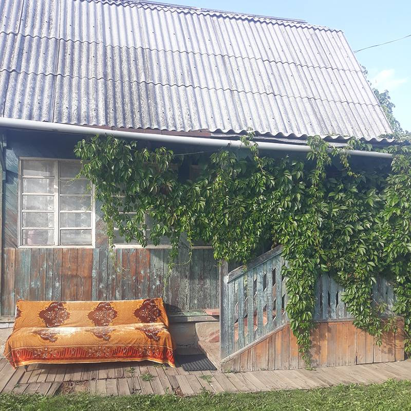 После обеда, сидя на завалинке, пью чай из «Кантаты» с прошлогодним вареньем из яблок и вишни